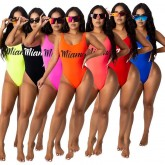 Women's Sexy Backless Swimsuit Printed Letter 356#