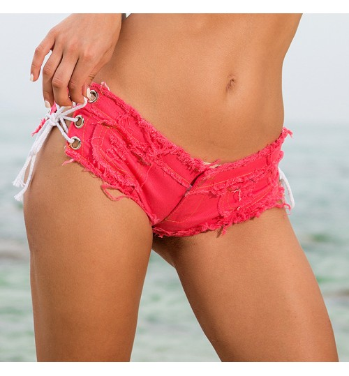 Women's Jeans Shorts Hot Pants Low-Rise Sexy Nightclub Clothing 616#