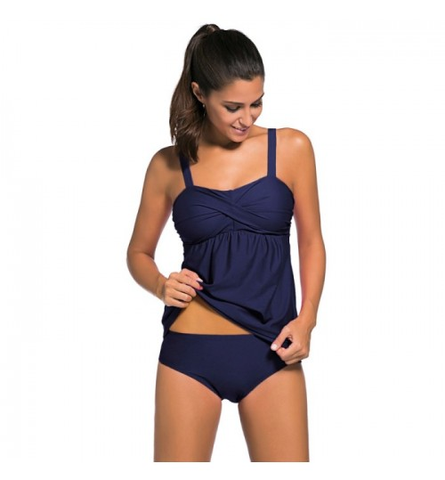 Bra strap Tankinis two-piece swimming suit with chest pad