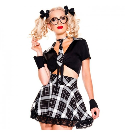 Halloween England Ireland style playful students plaid prints five pieces costumes