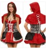 Halloween new red fairy tale Strap Back zipper cape shawl strapless stage costumes