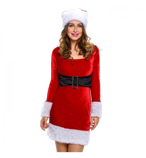 Women's new fashion stage performance red Christmas costume suit