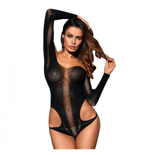 black sexy lingerie tube top boat neck sleeveless bodysuit transparent nightdress