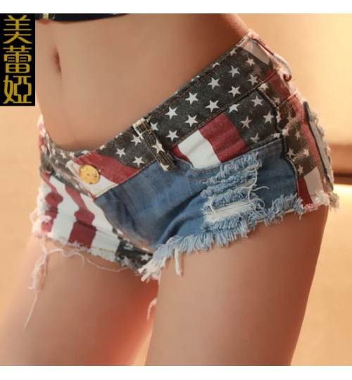 new summer women's low-rise denim shorts sexy beach pants for nightclubs woman