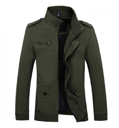 Autumn Winter men's washable cotton long jacket