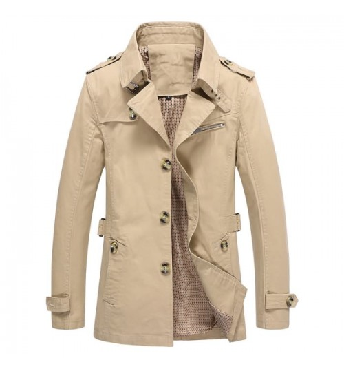 Autumn male coat washable wind coat Korean version