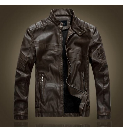 Europe and the United States men's leather coat motorcycle jacket