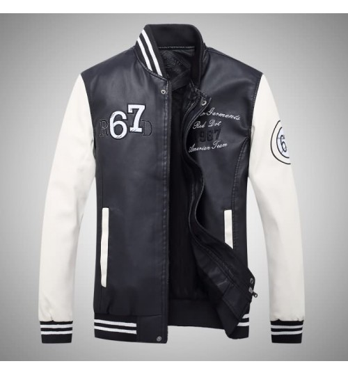 Factory direct supply Autumn Winter new fashion big embroidered leather jacket boys jacket