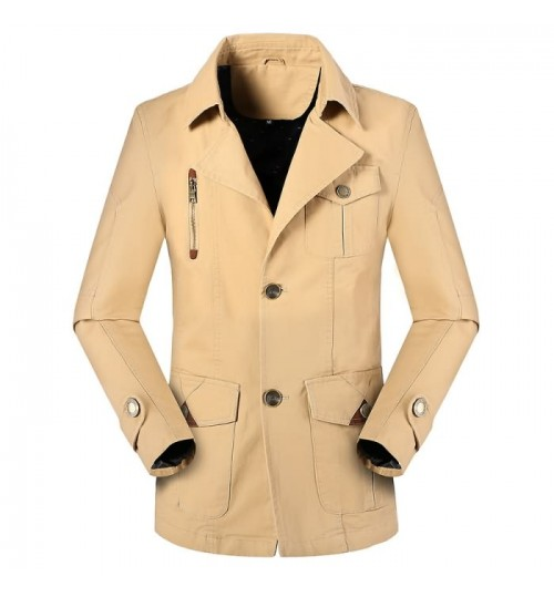 Fall in the long beach style Parker suit washable Parker wind jacket