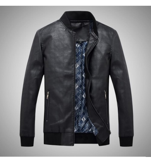 Korean style Spring and summer men's washable fashion PU leather clothing