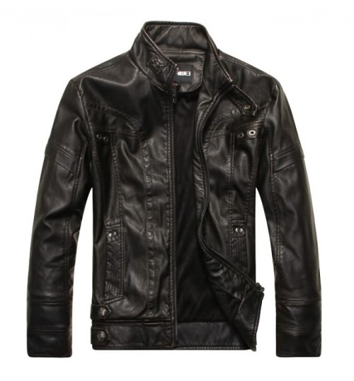Men's motorcycle PU leather clothing men's jacket factory direct supplies