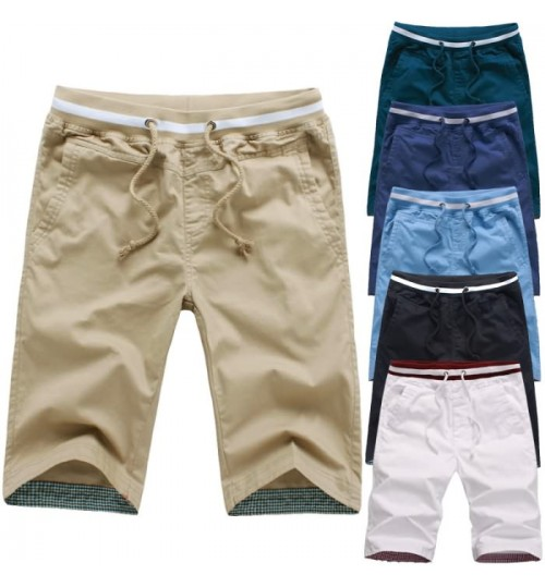 New men's summer multicolor thread shorts Korean version of the Slim casual pants