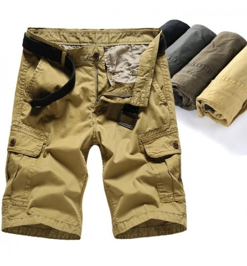 Overalls men's summer casual pants plus-size loose multi-packet pants