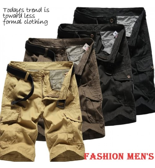 Overalls men's summer casual sports pants plaid lining pocket plus-size loose breeches