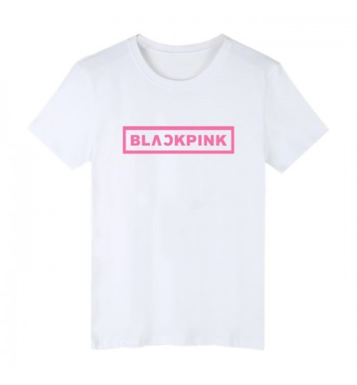 Blackpink album name style short-sleeved T-shirt men and women loose clothes
