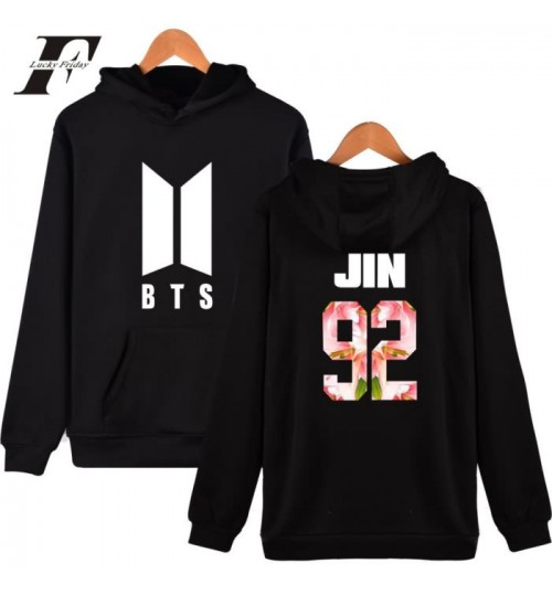 BTS BON VOYAGE Season2 loose hooded  sweater hoodies
