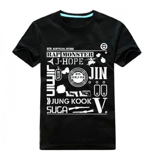 BTS WAKE UP Tokyo concert men and women short-sleeved T-shirt song clothes
