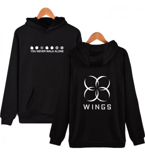 BTS wings album you never walk alone hooded sweater