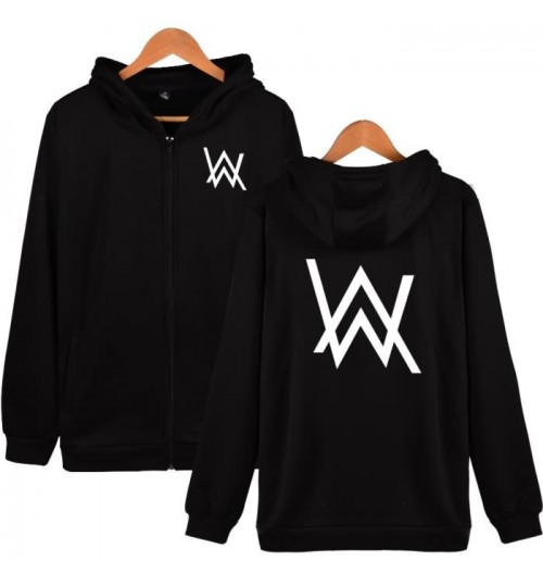 DJ zipper hoodies Alan Walker the same style faded jacket