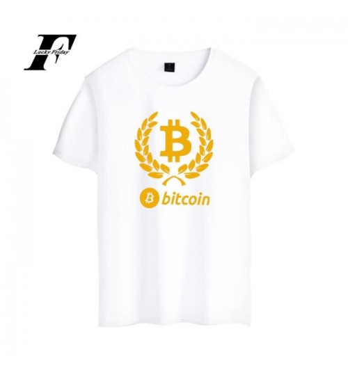 Summer clothes new bitcoin pattern plus-size men's short t-shirt