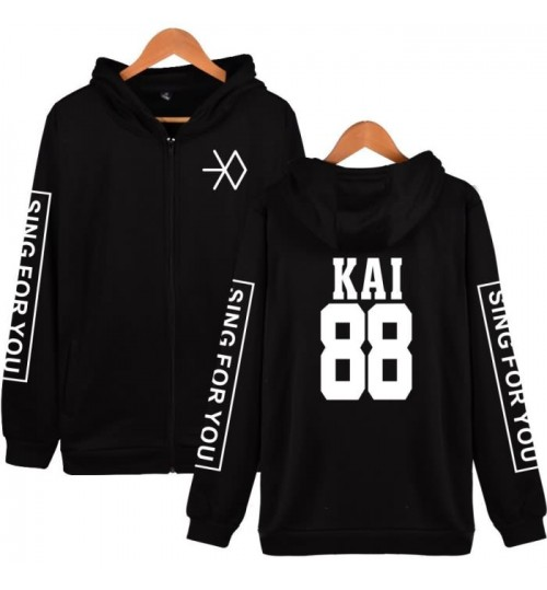 exo clothes sing for you zipper hooded sweater men and women fall and winter clothes