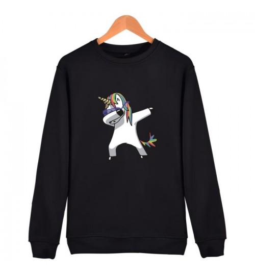 Funny animal dabbing prints loose fashion men's sweater