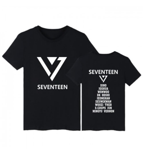GOING SEVENTEEN concert men and women wear short-sleeved T-shirt