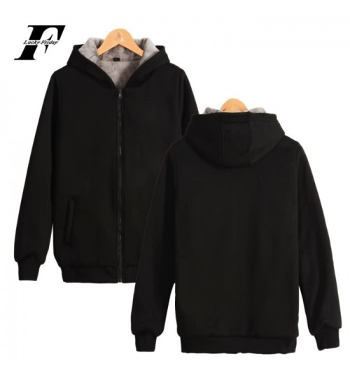Men's sweater hooded winter baseball uniform plus-size sports plus velvet thickened jacket