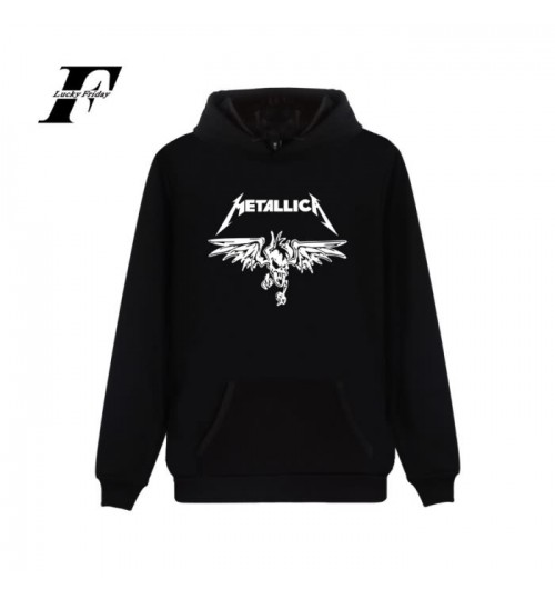 Metallica band fashion loose men's hooded sweater
