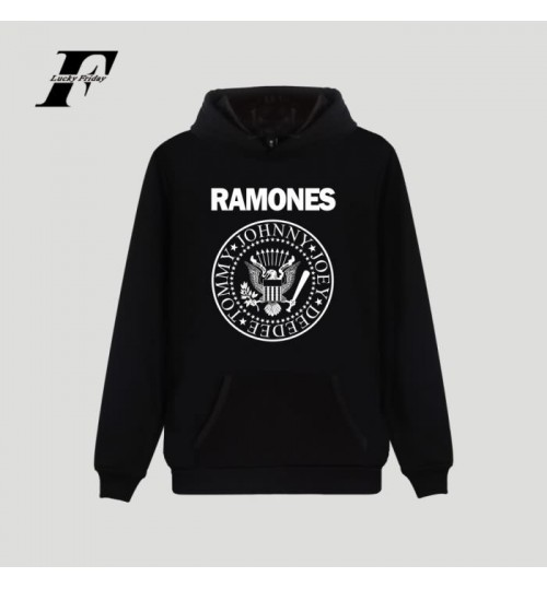RAMONES band new European and American fashion loose men's hooded sweater