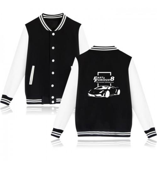Winter The Fate of the Furious 8 couple baseball uniform cardigan men and women coat