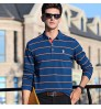 Autumn new business men's long-sleeved T-shirt lapel middle-aged father clothes