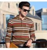 Autumn new long-sleeved T-shirt men's lapel striped business shirt manufacturers wholesale