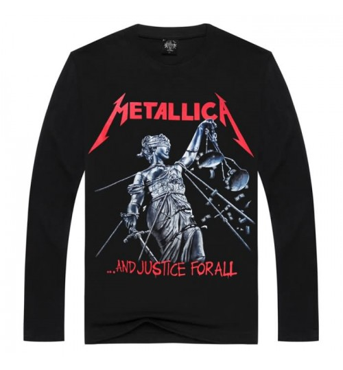 Heavy metal core new men's spring and summer fashion 3D long-sleeved T-shirt