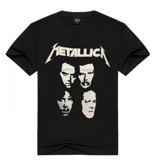 Heavy metal Metallica Band Creative prints Rock Men's T-Shirt Short Sleeve
