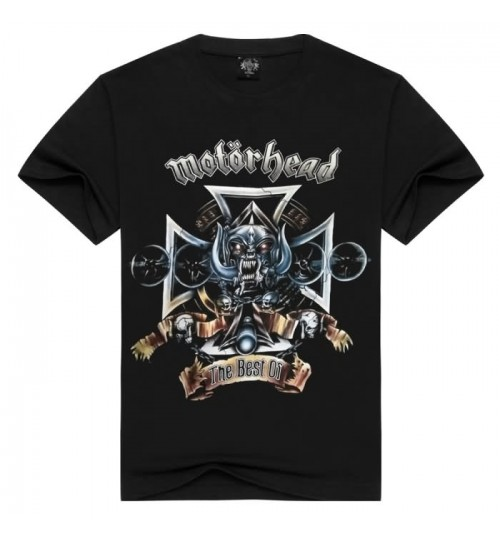 Heavy metal New Men's 3D Short Sleeve 3D prints T-shirt Motorhead British heavy metal rock band