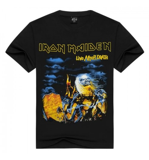 Heavy metal New men's European and American style 3D tide short sleeve t-shirt Iron Maiden