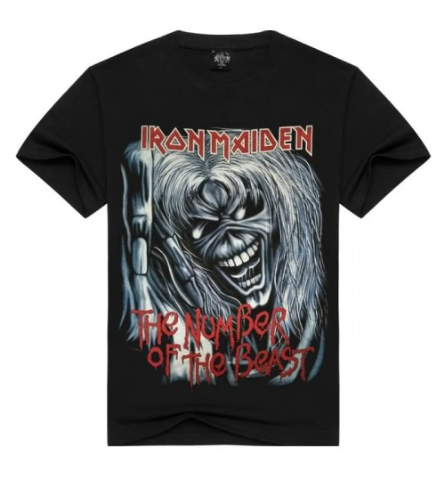 Heavy metal new men's fashion 3D prints short-sleeved T-shirt Iron Maiden