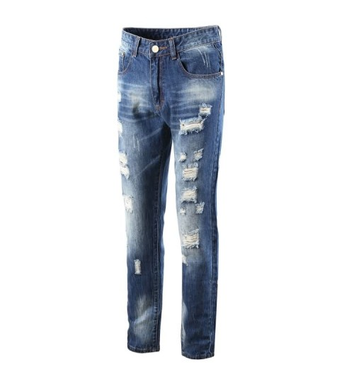 Myjeans198 denim cotton jeans straight Europe and the United States trousers