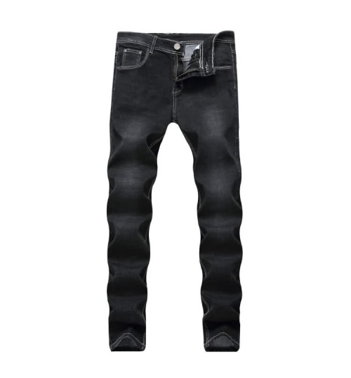 Myjeans198 Europe and the United States new men's jeans slim straight stretch black jeans