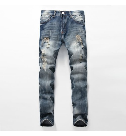 Myjeans198 menswear hole nostalgic new style jeans in Autumn Winter