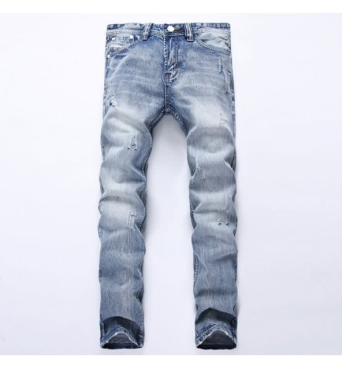 Myjeans198 men's straight thick jeans trousers