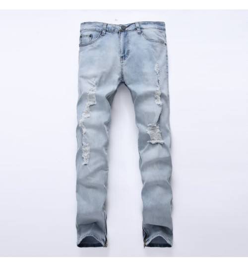 Myjeans198 men's zipper trousers nostalgic tide jeans trousers