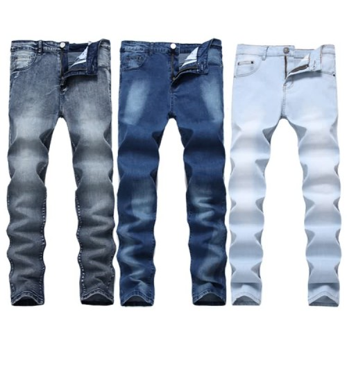 Myjeans198 Stretch Straight Jeans Slim Men's Multicolor Denim Pants