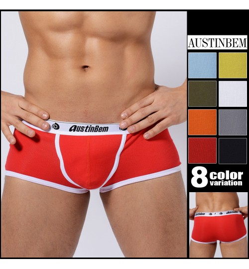 austinBem fashion sexy U-convex Boy shorts soft cotton men's underwear briefs