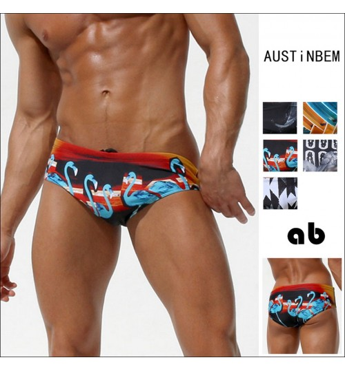 austinBem fashion boxer brief men's swimming trunks