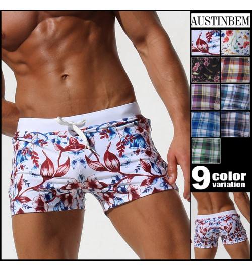 austinBem double pocket swimsuit men's creative pocket swimming trunks