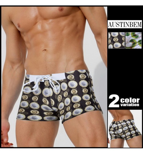 austinBem men's swimming trunks beach swimming pool boy shorts