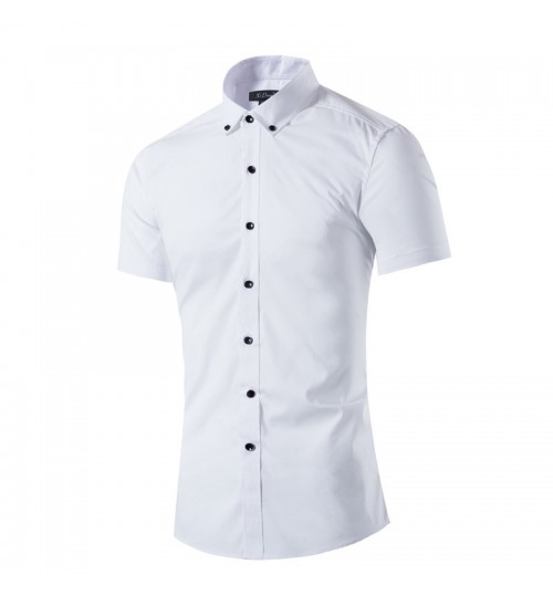 Men's short-sleeved shirt white summer clothes factory outlets