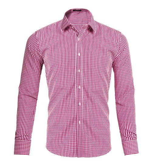 men's small plaid long-sleeved shirt American size suits
